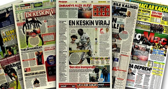 Sıcağı sıcağına Beşiktaş manşetleri!..