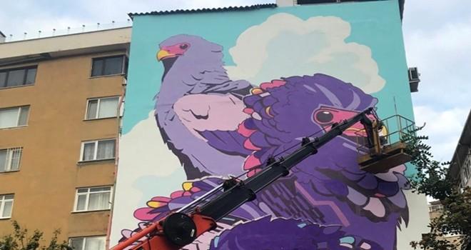 Urban Art projesi Beşiktaş'ı güzelleştiriyor