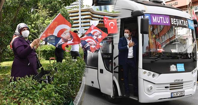 Beşiktaş'ın cadde ve sokaklarında 19 Mayıs coşkusu
